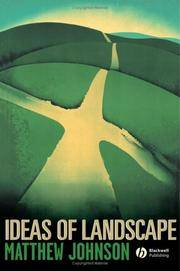 Ideas of Landscape (1st Hardcover Edition)