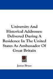 University and Historical Addresses
