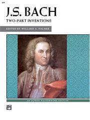 J. S. Bach: Two-Part Inventions (Alfred Masterwork Editions)