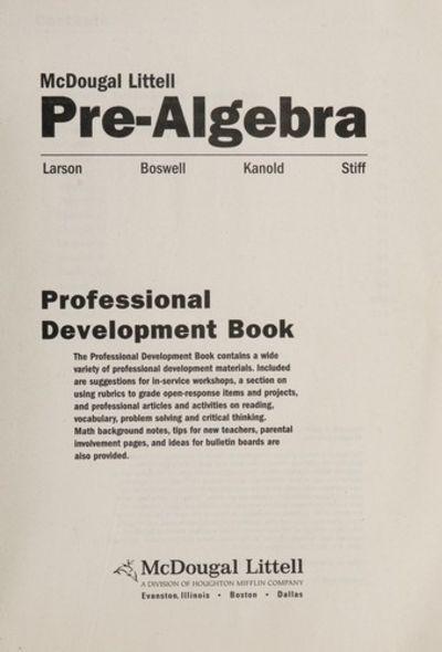 9780618269594 Pre Algebra English Spanish Chapter Reviews
