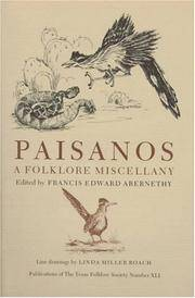 Paisanos. a Folklore Miscellany.