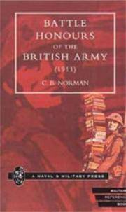 BATTLE HONOURS OF THE BRITISH ARMY (1911)