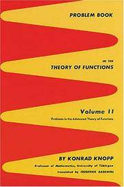 Problem Book in the Theory of Functions: Problems in the Advanced Theory of Functions