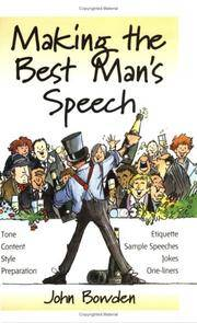 Making the Best Man's Speech