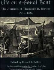 Life on a Canal Boat: The Journals of Theodore D. Bartley, 1861-1889
