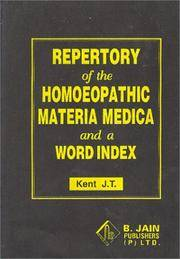 Repertory of the Homoeopathic Materia Medica with Word Index
