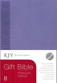 KJV Gift Bible, Purple LeatherTouch Premium Edition