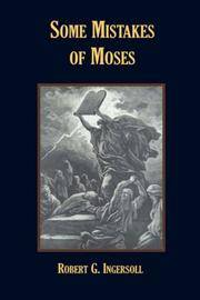 image of Some Mistakes of Moses