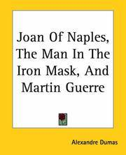 image of Joan of Naples, the Man in the Iron Mask, and Martin Guerre