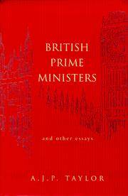 image of British Prime Ministers and Other Essays (Allen Lane History)