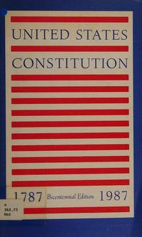 Constitution of the United States: Published for the Bicentennial of Its Adoption in 1787 by United States Constitution - Paperback - from Discover Books (SKU: 3300639825)