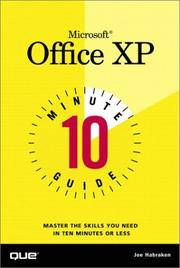 Microsoft Office XP 10 Minute Guide