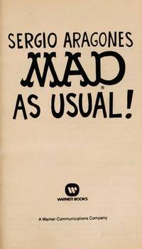 Mad as Usual! by SERGIO ARAGONES - Paperback - 1990-05-01 - from Ergodebooks and Biblio.com