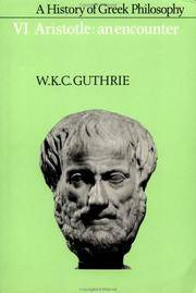 image of A History of Greek Philosophy: Volume 6, Aristotle: An Encounter