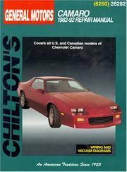 GM Camaro, 1982-92 (Chilton Total Car Care Series Manuals)