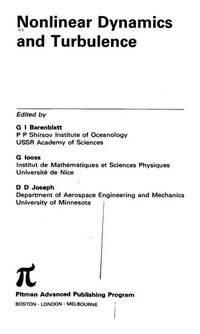 Nonlinear dynamics and turbulence (Interaction of mechanics and mathematics series)