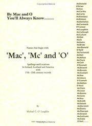 Mac, Mc & 'O' names in Ireland, Scotland and America, with locations