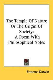 The Temple Of Nature Or The Origin Of Society A Poem With Philosophical Notes