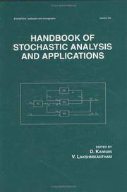 HANDBOOK OF STOCHASTIC ANALYSIS AND APPLICATIONS