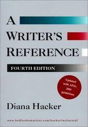 image of Writer's Reference (2001)