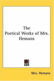 The Poetical Works Of Mrs Hemans