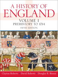 A History of England Volume 1 By Clayton Roberts by  Douglas R  David; Bisson - Paperback - 2008-09-22 - from GOTbooks (SKU: SKU0136028616)