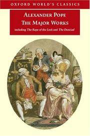 The Major Works (Oxford World's Classics) by  Pat Rogers (Editor) Alexander Pope - Paperback - 2006-11-06 - from Ergodebooks and Biblio.com