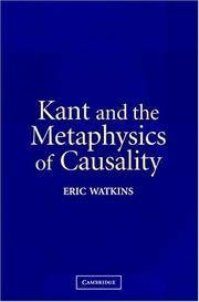 Kant and the Metaphysics of Casuality