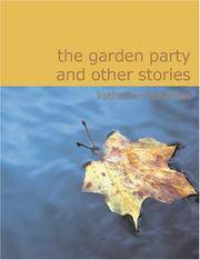 image of The Garden Party and Other Stories