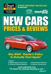 Edmund's New Cars Prices and Reviews: Fall 2000 (Edmundscom New Car and Trucks Buyer's...