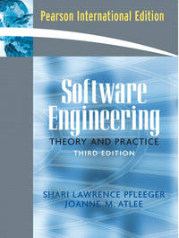 Software Engineering: International Edition: Theory and Practice by Shari Lawrence Pfleeger - Hardcover - 2005 - from Anybook Ltd and Biblio.com