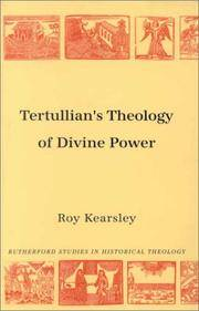 image of Tertullian's Theology of Divine Power (Rutherford Studies, Series 1: Historical Theology) (Rutherford Studies on Historical Theology) (Rutherford Studies in Historical Theology)