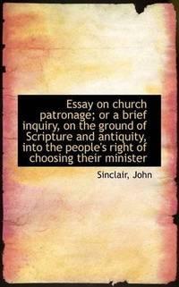 Essay On Church Patronage