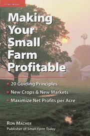 Making Your Small Farm Profitable by  Ron Macher - Paperback - 1999 - from Laird Books and Biblio.co.uk