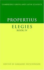 image of Propertius: Elegies Book IV