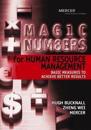 Magic Numbers for Human Resource Management : Basic Measures to Achieve Better Results by  Hugh Bucknall - Hardcover - from Better World Books  (SKU: 5637292-6)