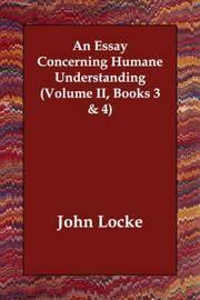 image of An Essay Concerning Humane Understanding (Volume II, Books 3_4)