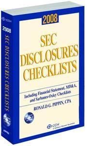 SEC Disclosures Checklists (2008)