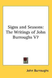 image of Signs and Seasons: The Writings of John Burroughs V7