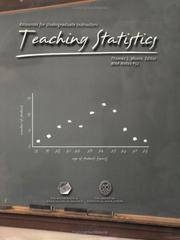 Teaching Statistics: Resources for Undergraduate Instructors by  Thomas J Moore - Paperback - 2001-02-15 - from BooksEntirely and Biblio.com