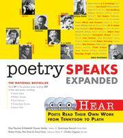 image of Poetry Speaks Expanded: Hear Poets Read Their Own Work From Tennyson to Plath (Book w/ Audio CD)