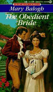 The Obedient Bride (Signet Regency Romance) by  Mary Balogh  - Paperback  - 1989-06-06  - from Basement Seller 101 (SKU: 160426474)