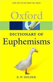 image of A Dictionary of Euphemisms: How Not To Say What You Mean (Oxford Quick Reference)