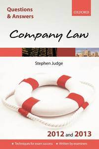 Q&A Company Law 2012 and 2013