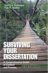 surviving the dissertation process Dissertation solutions: a concise guide to planning, implementing, and surviving the dissertation process.