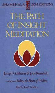 The Path of Insight Meditation.