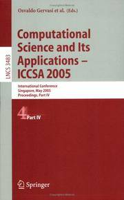 Computational Science And Its Applications - Iccsa 2005: International Conference, Singapore, May 9-12, 2005, Part 4