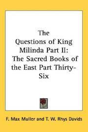 questions of king milinda