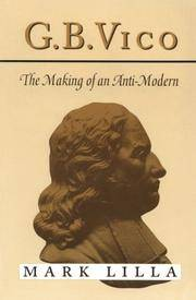 G. B. Vico: The Making of an Anti-Modern by  Mark Lilla - Paperback - from Good Deals On Used Books (SKU: 00011745606)