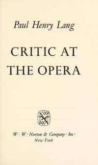 Critic At the Opera